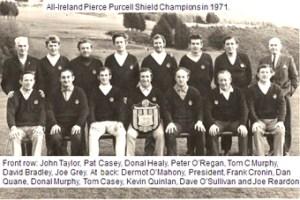 1971 All Ireland winning Muskerry Pierce Purcell Team