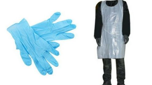 Latex Gloves and Apron