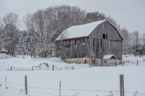 Muskoka Barn in Winter