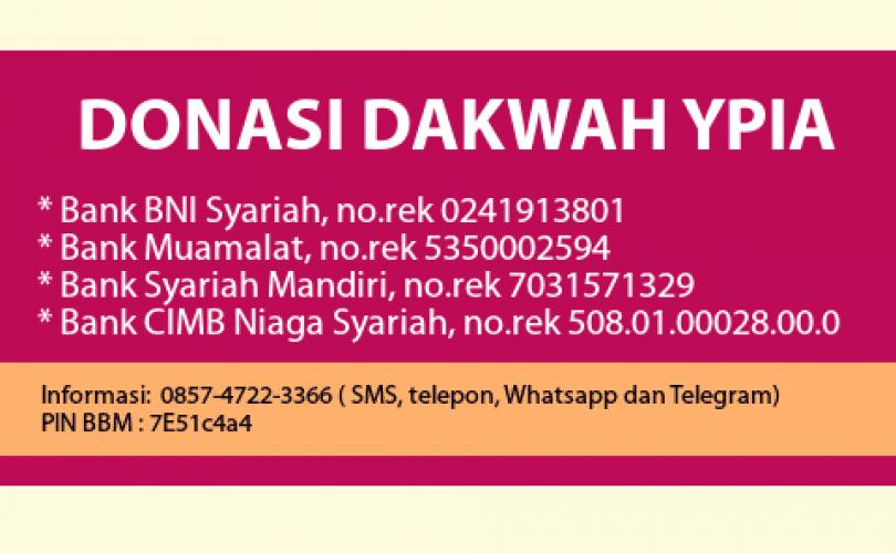 Laporan Donasi Dakwah YPIA Periode Bulan Maret 2017