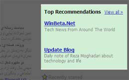 Google Reader Top Recommendations