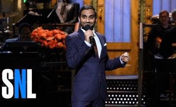 Aziz Ansari Tackles Women's March, Islamophobia & Trump in SNL Monologue