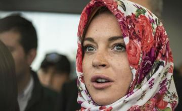 Lindsay Lohan Stopped at Heathrow Airport for Wearing a Hijab
