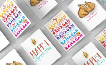 This Designer's New Greeting Cards Are Cute, Funny, & 99.99% Halal