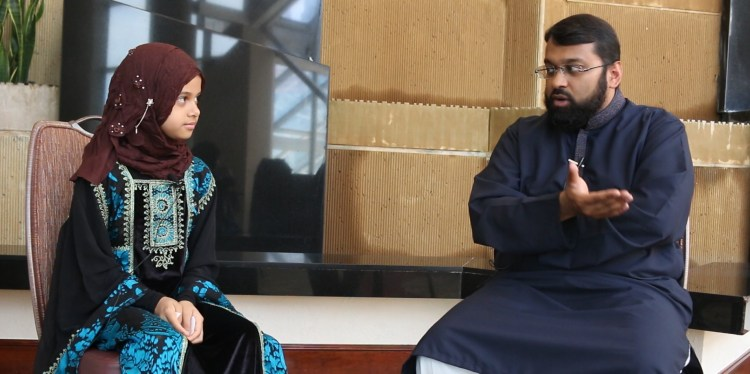 Maryam with Dr. Yasir Qadhi