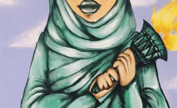 Lady Liberty Painting in Hijab From Congressional Art Competition Causes Outrage