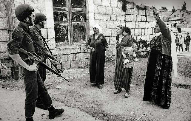 palestinian women confrontation