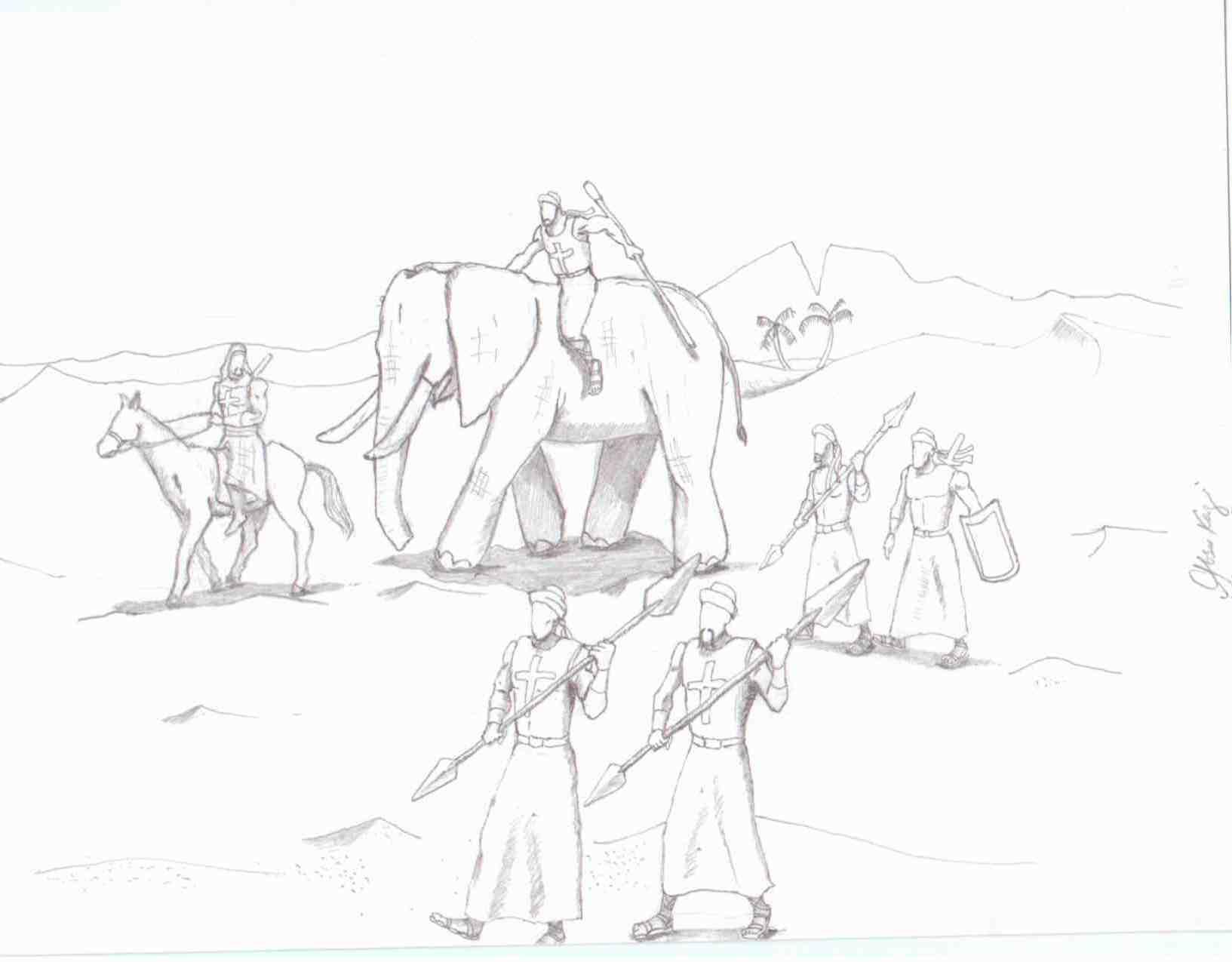 Surah Al Fil (The Elephant) Hand Drawn Illustrations