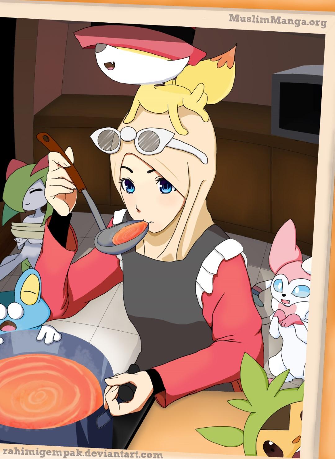 Hijabi Pokemon trainer