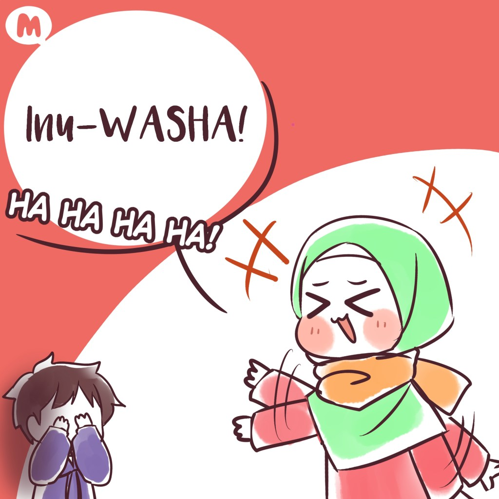 Fun Puns with Aya: Kagome cleans clothes 2