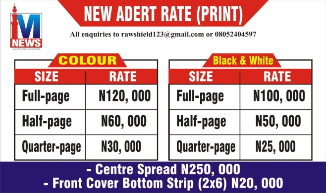 NEW ADVERT RATE (PRINTS)