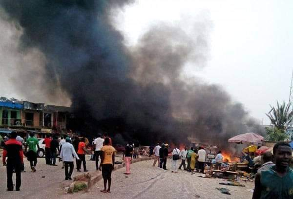 Image result for 12-year old killed as female suicide bombers attack mosque in Gwoza