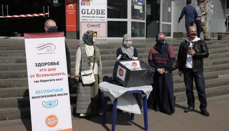 حملة توزيع أقنعة طبية