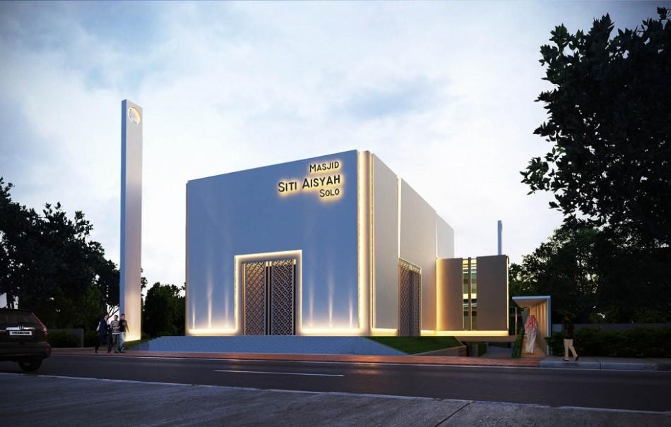 Konsep Desain Awal Masjid Kotak Siti Aisyah Solo