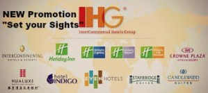 "New promotion by IHG ""Set your Sights"""