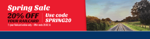 Save 20% off Yearly Railcards until 28th of March