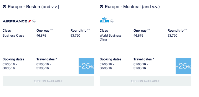 KLM Promo Award for August - September