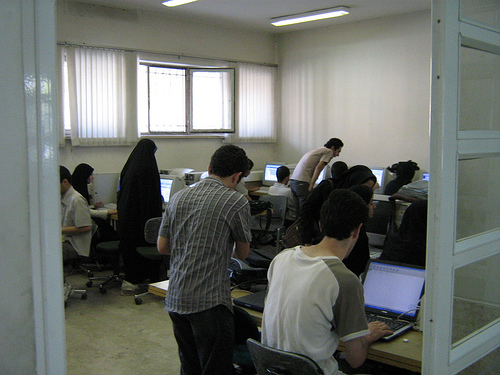 Tehran computer users by ebright / Creative Commons
