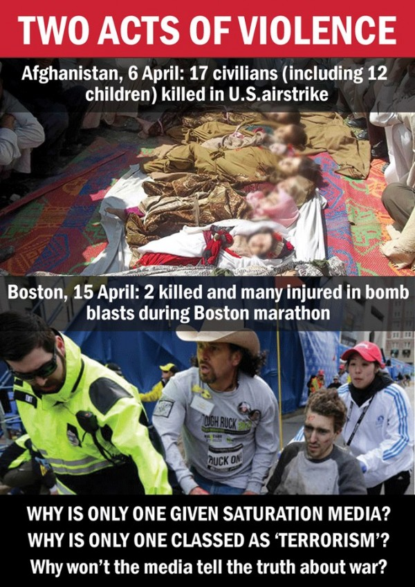 Boston bombing v Afghanistan