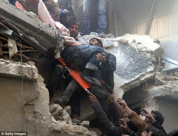 Dozens killed in Aleppo barrel bombings