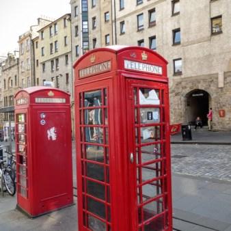 2. Edynburg - czerwone budki telefoniczne