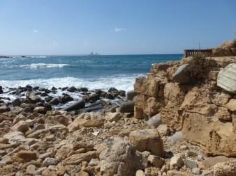 3. Cezarea - widok na Morze Śródziemne
