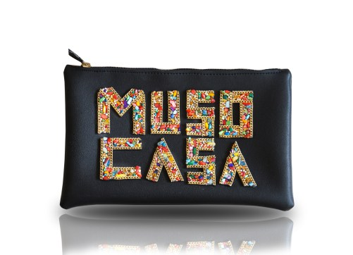 Muso Casa Black 3D Clutch