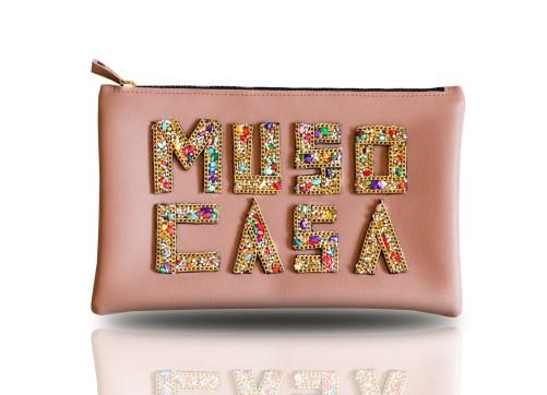 Muso Casa 3D Pink Clutch