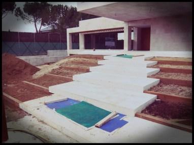 construcción escalinata jardín aravaca
