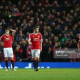 during the Barclays Premier League match between Manchester United and Southampton at Old Trafford on January 23, 2016 in Manchester, England.