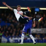 during the Barclays Premier League match between Chelsea and Tottenham Hotspur at Stamford Bridge on May 02, 2016 in London, England.