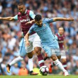 during the Premier League match between Manchester City and West Ham United at Etihad Stadium on August 28, 2016 in Manchester, England.