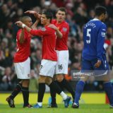 of Manchester United of Everton during the Barclays Premier League match between Manchester United and Everton at Old Trafford on December 23, 2007 in Manchester, England.