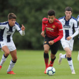WEST BROMWICH, ENGLAND - SEPTEMBER 22:  Mason Greenwood of Manchester United U18s in action during the U18 Premier League match between Manchester United U8s and West Bromwich Albion U18s on September 22, 2018 in West Bromwich, England.  (Photo by Manchester United/Manchester United via Getty Images)
