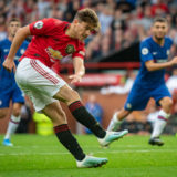 MANCHESTER, ENGLAND - AUGUST 11:   (EDITOR'S NOTE: Image processed using a digital filter)  Daniel James of Manchester United in action during the Premier League match between Manchester United and Chelsea FC at Old Trafford on August 11, 2019 in Manchester, United Kingdom. (Photo by Ash Donelon/Manchester United via Getty Images)