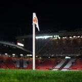 MANCHESTER, ENGLAND - DECEMBER 12: General view inside the stadium of the corner flag during the Premier League match between Manchester United and Manchester City at Old Trafford on December 12, 2020 in Manchester, England. The match will be played without fans, behind closed doors as a Covid-19 precaution. (Photo by Michael Regan/Getty Images)