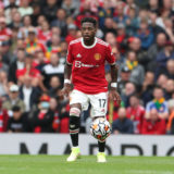 MANCHESTER, ENGLAND - AUGUST 14: Fred of Manchester United in action during the Premier League match between Manchester United  and  Leeds United at Old Trafford on August 14, 2021 in Manchester, England. (Photo by Matthew Peters/Manchester United via Getty Images)