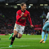 MANCHESTER, ENGLAND - DECEMBER 21:  Adnan Januzaj of Manchester United celebrates scoring his team's second goal during the Barclays Premier League match between Manchester United and West Ham United at Old Trafford on December 21, 2013 in Manchester, England.  (Photo by Stu Forster/Getty Images)