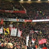 Läktarbild innan Manchester United - Liverpool.