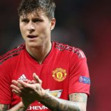 MANCHESTER, ENGLAND - OCTOBER 23:  Victor Lindelof of Manchester United walks off after the Group H match of the UEFA Champions League between Manchester United and Juventus at Old Trafford on October 23, 2018 in Manchester, United Kingdom.  (Photo by Tom Purslow/Man Utd via Getty Images) *** Local Caption *** Victor Lindelof