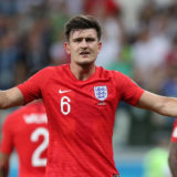 VOLGOGRAD, RUSSIA - JUNE 18:  Harry Maguire of England reacts to a penalty decision during the 2018 FIFA World Cup Russia group G match between Tunisia and England at Volgograd Arena on June 18, 2018 in Volgograd, Russia.  (Photo by Alex Morton/Getty Images)
