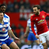 MANCHESTER, ENGLAND - JANUARY 07:  Juan Mata of Manchester United in action during the Emirates FA Cup third round match between Manchester United and Reading at Old Trafford on January 7, 2017 in Manchester, England.  (Photo by Clive Brunskill/Getty Images)