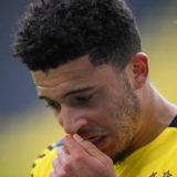 DORTMUND, GERMANY - MAY 22: Jadon Sancho of Dortmund seen during the Bundesliga match between Borussia Dortmund and Bayer 04 Leverkusen at Signal Iduna Park on May 22, 2021 in Dortmund, Germany. (Photo by Matthias Hangst/Getty Images)