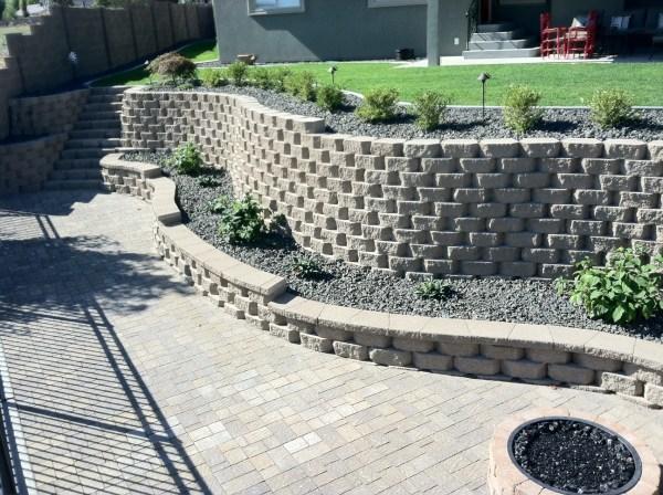 retaining walls musser landscaping