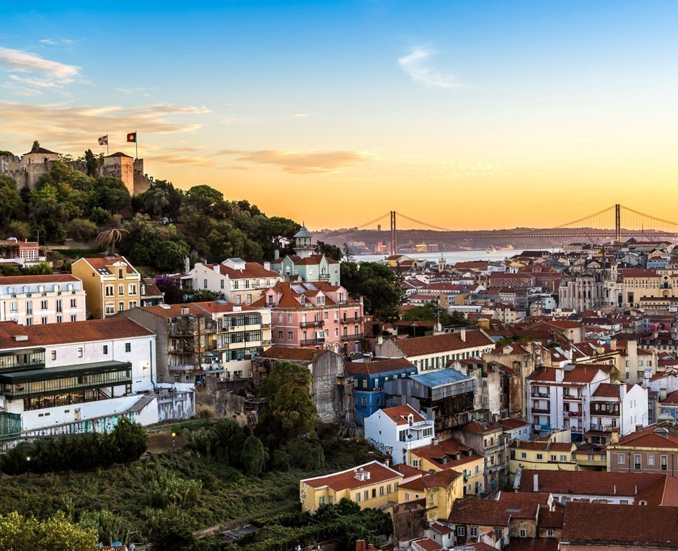 Romantic view of Lisbon at night | TOP 10 Budget Destinations for 2016