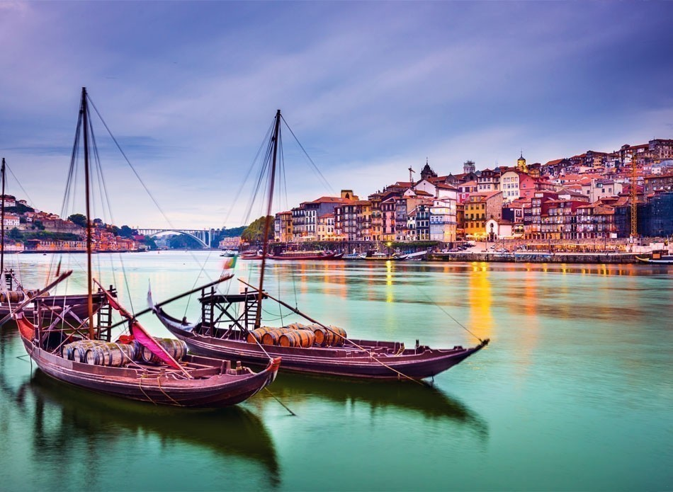 Beautiful view of Porto with Douro River and traditional Rabelo boats | 10 of the Most Colorful Cities in the World