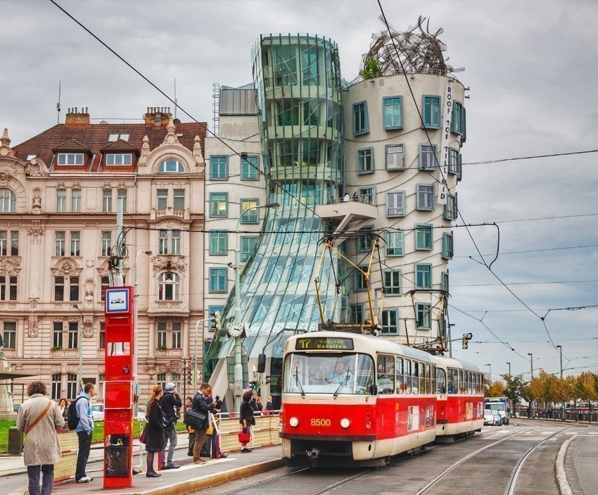 This building has a nickname The Dancing House or Fred and Ginger | The Ultimate 3-Day Itinerary for a Trip to Prague