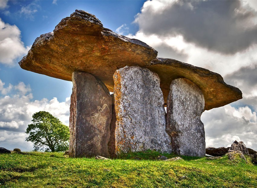 5 000 years old Polnabrone Dolmen in Burren, Co. Clare | 10 places you Must Visit in Ireland