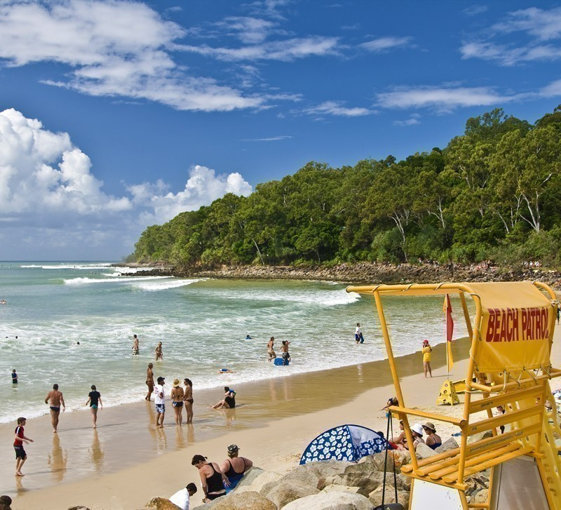 Panorama of Noosa's main beach with Surf Patrol | Top 10 Australian Beaches That You Must Include in Your Bucket List