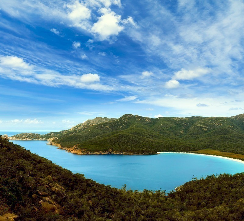 Sitting pretty on the Freycinet Peninsula, Wineglass Bay may be remote but certainly one of the most spectacular beaches in Australia. | Top 10 Australian Beaches That You Must Include in Your Bucket List